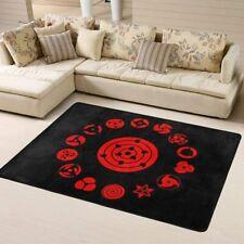 NARUTO0 Sharingan Rugs Anti-Skid Area Rug Living Room Bedroom Floor Mat Carpet