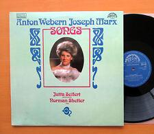 Anton Webern Jospeh Marx Lieder Jutta Seifert 1990 Supraphon 11 0337-1 NEAR MINT