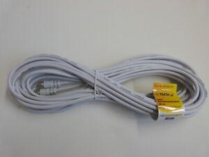 Heitech 10m SAT Anschlusskabel weiß F-Stecker/F-Stecker