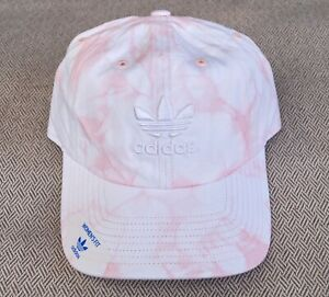 New Adidas Relaxed Modern Tye Dye Pink Unisex Mens Curved Dad Hat RHTADI-19