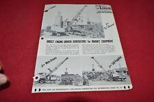 Lorain Crane Direct Engine Driven Generators For Magnet Dealer's Brochure RPMD