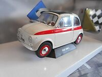 """FIAT 500 L """" Sport """" Sondermodell 1968 weiss + rot Solido Metall NEU 1:18"""