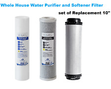 New Whole House Water Purifier and Softener set of Replacement 10""