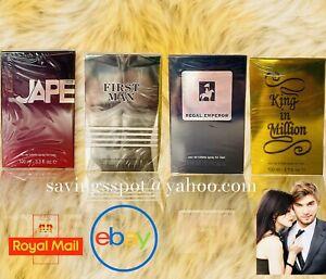 Mens Aftershave Gift Set 100mlx4 (Jape,King In Million,First Man,Regal) Job-lot
