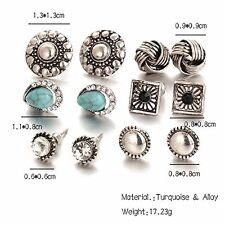 GirlZ! Fashion Romantic Trendy And Stylish Stud Earrings Set of 6 Pairs