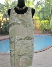 HOLIDAY Pucci Silk Dress w/GLAM Sequins/Beads/Crystals/Rhinestones IT42 6-8 M