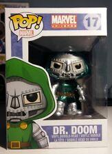 Funko DR DOOM RARA metallico esclusivo POP Figura in vinile UK Venditore