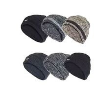 Men's Warm Winter Knitted WOOLY THINSULATE Outdoor Hat Chunky Thermal Beanie Ski