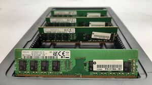 LOT 4 HP-SAMSUNG 911604-591 8GB 1Rx8 DDR4 PC4-2133 17000 NON ECC DIMM MEMORY RAM