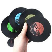 Disco CD de vinilo grabar bebidas posavasos Bar mesa de la taza Skid Mat titular
