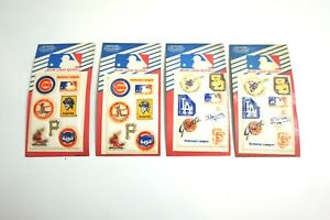 4 PACKS OF VINTAGE MAJOR LEAGUE BASEBALL PUFFY STICKERS NEW NOS 1980'S DIMENSION