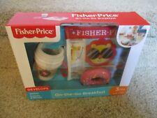 Fisher-Price On-the-Go Breakfast Pretend Play Fun Food NEW doughnut newspaper