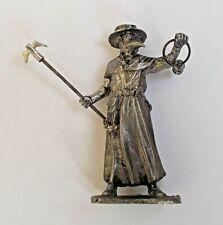 "1/30 Plague Doctor Medieval Tin Metal Soldier Figure handmade 65 mm / 2,5"" NEW"