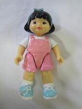 FISHER PRICE Loving Family Dream Dollhouse ASIAN GIRL SISTER DOLL in PINK Rare!