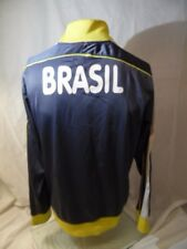 Brazil Soccer Team Retro Soccer Jacket Fleece Youth Boys Medium Machado Mario