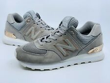 New Balance Women's 574 Classic Grey Rose Gold WL574FSC Shoes Size 8