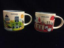 Starbucks Oxford England YAH Mug Set Stonehenge Tea Boat Dodo River You Are Here