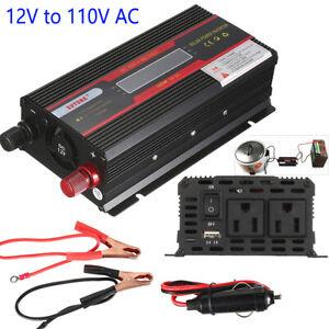 6000W Car Converter Solar Power Inverter 12V To 110V Pure Sine Wave Invertor