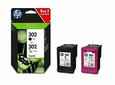 2x Original HP 302 Black & 1x Colour Ink Cartridge for Officejet 3832 Printer