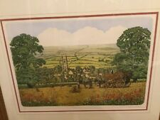 "AUTHENTIC Stephen Whittle (UK) Signed Colored Etching ""Harvest Home"" - 111/250"