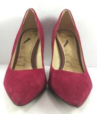 Sam Edelman Red Suede Hazel Pumps Womens Size US 9.5M