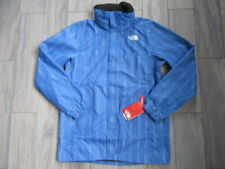 NORTH FACE MENS RESOLVE WINDPROOF WATERPROOF HOODED PARKA, BLUE WHITE, NWT, M