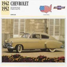 1942-1952 CHEVROLET FLEETLINE Classic Car Photograph / Information Maxi Card