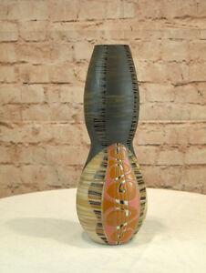 Moderne Vase Keramik Sanduhrform 32 cm hoch