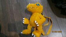 "Digimon Agumon 15"" Stuffed Plush Backpack - 2000 Vintage Collectable Anime"