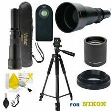 TELEPHOTO ZOOM LENS 650MM-1300MM-2600MM + REMOTE +TRIPOD FOR NIKON D3400 D5600