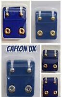 CAFLON Ear Piercing Studs 2mm /4mm /6mm / Heart /Star /Pearl/ Ball/Clear/Claws