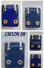 CAFLON Ear Piercing Studs 2mm /4mm /6mm / Heart /Star /Pearl/ Ball/Clear/Claws