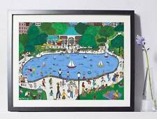 Central Park Boathouse NYC Art Painting  Pat Singer's New York - Home Decor