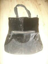 Unusual Vintage Italian Black Pony skin/ Black Suede Bag by Salvatore Ferragamo