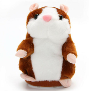 Talking Hamster Repeats What You Say Electronic Plush Toy Pet Sound Kids Gift