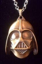 Darth Vader medallion on chain necklace