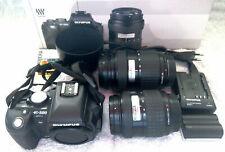 OLYMPUS E 500 Digitalkamera inkl. 2 OBJEKTIVE und Zubehörpaket