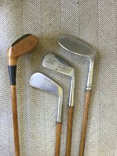 Antique Hickory Wood Shaft Display Set Golf Clubs