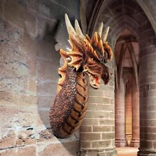 The Ruthless Knavesmire Dragon Trophy Design Toscano Wall Sculpture