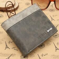 New Men's Slim Leather Bifold Credit ID Card Holder Wallet Billfold Purse Clutch