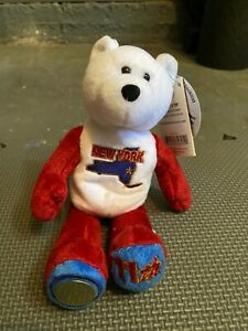 """NEW YORK State Quarter Coin Bear NY 11th state. Plush 8"""" Limited Treasures, NWT"""
