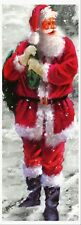 JOLLY SANTA CLAUS FATHER CHRISTMAS LIFE SIZE 6 FEET QUALITY CANVAS POSTER  XMAS