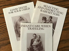 Vintage Child-rearing booklets by Mead Johnson Labs - set of 3 from the late 60s