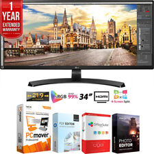 "LG 34UM68-P 34"" 21:9 UltraWide FreeSync IPS Monitor +Extended Warranty Pack"