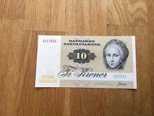 10 Kronen Banknote Dänemark 1975