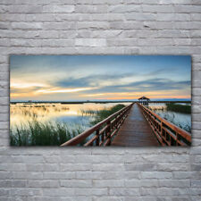 Wall art Print on Plexiglas® Acrylic 120x60 Bridge Architecture