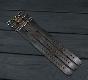 Brown Leather Watch strap Distressed Soft thick Band Custom cuff 18 20mm 22 24mm