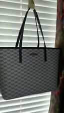 MICHAEL KORS 38H7XE4T3V EMRY LARGE TOP ZIP TOTE GRAY/BLK $328 NWT