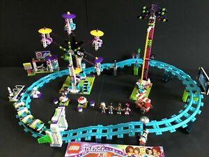 LEGO Friends 41130 Amusement Park Roller Coaster 100% Complete W/Manual (2016)