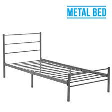 3FT Single Silver Metal Bed Frame Sturdy Bedstead for Adult Children